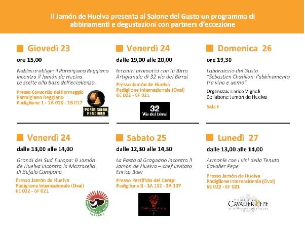 Horario Turín Jamón de Huelva