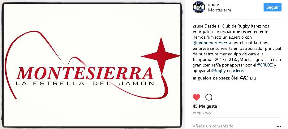 Montesierra patrocinador del Club de rugby de Jerez