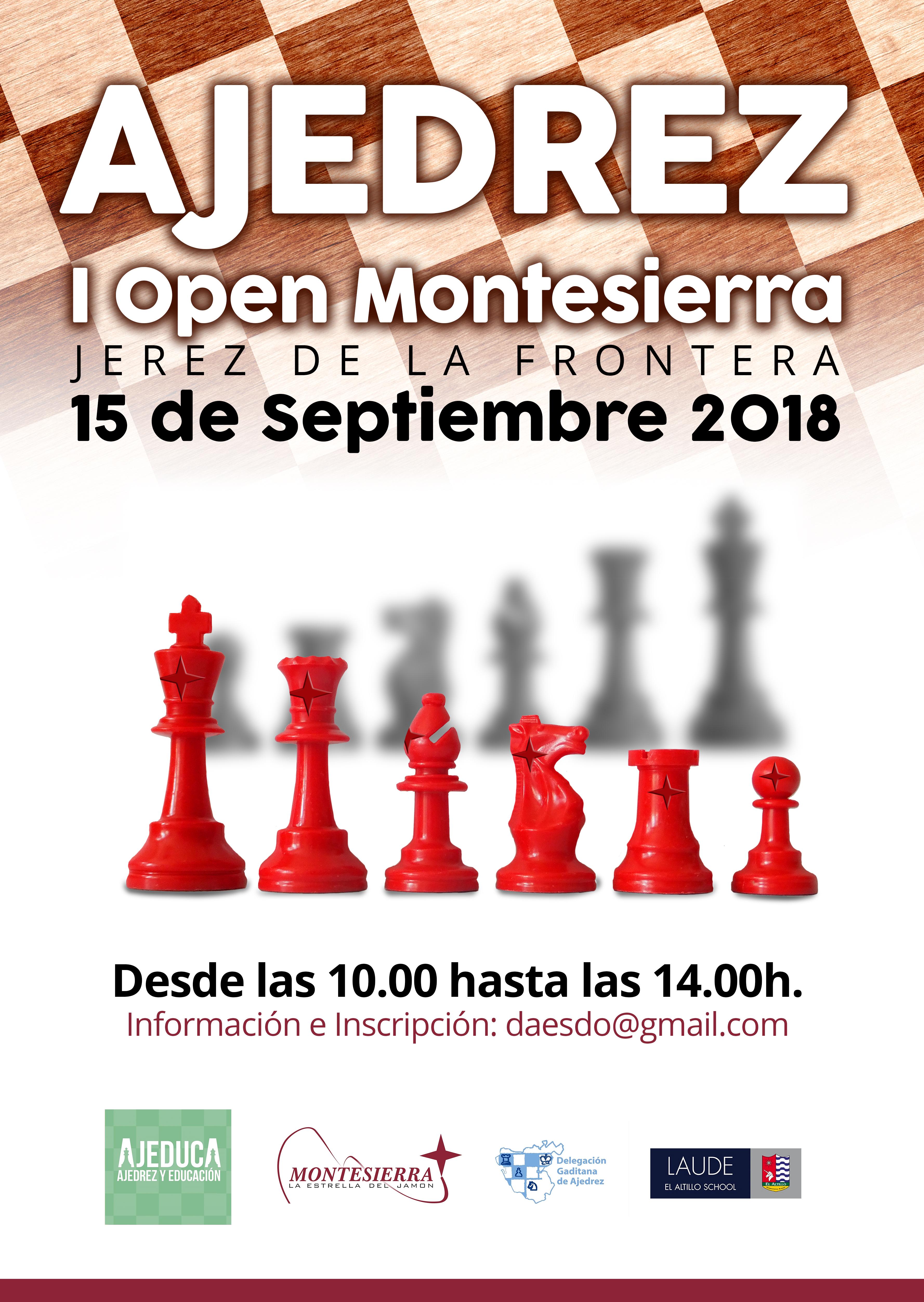 Cartel Torneo Ajedrez Montesierra