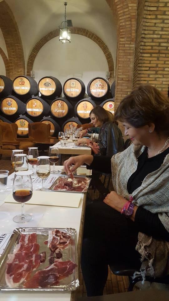 Cata Solidaria de Vinos de Jerez maridada con Jamón Ibérico de Montesierra para Reyes Magos 2018